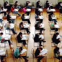 Foto di un compito in classe