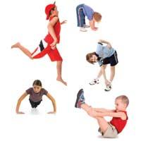 Immagine di Bambini che fanno ginnastica