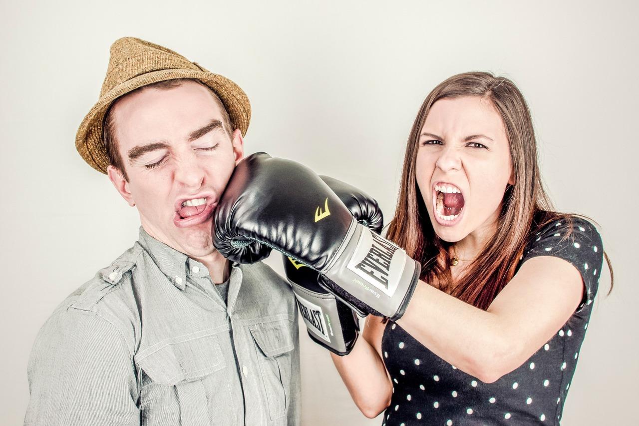 litigare di fronte ai bambini