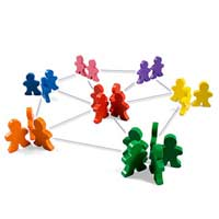 Immagine di uno schema di Rete sociale